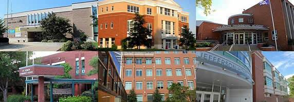 collage of 6 ACPS facilities